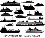 illustration with fifteen ship... | Shutterstock .eps vector #619778105