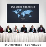 people connected to global... | Shutterstock . vector #619786319