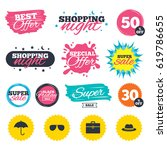 sale shopping banners. special... | Shutterstock .eps vector #619786655