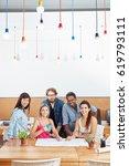 startup team planning as a... | Shutterstock . vector #619793111