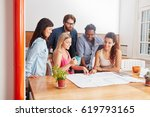 startup team planning project... | Shutterstock . vector #619793165