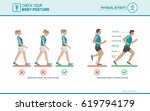 the correct walking and running ... | Shutterstock .eps vector #619794179