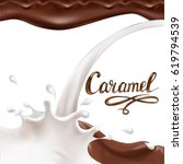 liquid chocolate  caramel or... | Shutterstock .eps vector #619794539