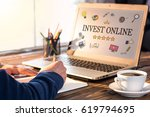 invest online concept with