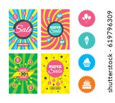 web banners and sale posters.... | Shutterstock .eps vector #619796309