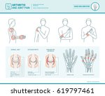 arthritis and joint pain... | Shutterstock .eps vector #619797461