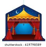 ramadan tent hanger   Shutterstock .eps vector #619798589