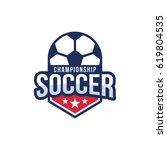 soccer logo. badge | Shutterstock .eps vector #619804535
