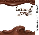 liquid chocolate  caramel or... | Shutterstock .eps vector #619804631