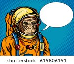 astronaut monkey in space suit... | Shutterstock .eps vector #619806191