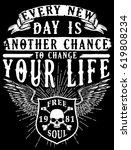 vintage slogan man t shirt... | Shutterstock .eps vector #619808234
