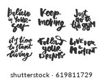 keep moving. believe in... | Shutterstock .eps vector #619811729