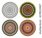mandala. vector image.... | Shutterstock .eps vector #619813487