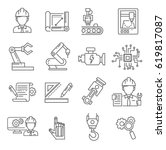 set of engineering related... | Shutterstock .eps vector #619817087