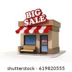 big sale mini store 3d rendering | Shutterstock . vector #619820555