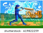 concept of sportsman playing... | Shutterstock .eps vector #619822259