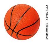 realistic vector basketball | Shutterstock .eps vector #619824665