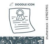 doodle certificate | Shutterstock .eps vector #619825901