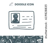 doodle id card | Shutterstock .eps vector #619828835