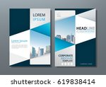 blue green flyer design... | Shutterstock .eps vector #619838414