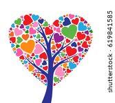 tree heart | Shutterstock .eps vector #619841585