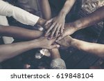 team work concept   group of... | Shutterstock . vector #619848104