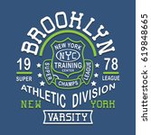 athletic sport brooklyn... | Shutterstock .eps vector #619848665
