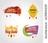 ramadan kareem sale design...   Shutterstock .eps vector #619854335