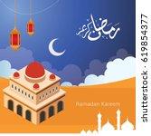 ramadan kareem design vector.... | Shutterstock .eps vector #619854377