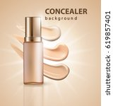 cosmetic product  foundation ... | Shutterstock .eps vector #619857401