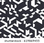 irregular vector black and... | Shutterstock .eps vector #619869455