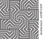 black and white geometric... | Shutterstock .eps vector #619871429