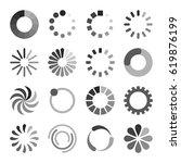 loading icons set | Shutterstock .eps vector #619876199