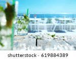 drink of summer time  | Shutterstock . vector #619884389