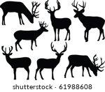 deers silhouette collection  ... | Shutterstock .eps vector #61988608