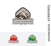 mountain logo design. nature...   Shutterstock .eps vector #619895831