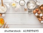 baking background with copy... | Shutterstock . vector #619899695
