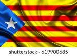national flag of catalonia... | Shutterstock . vector #619900685