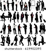 business people silhouette... | Shutterstock .eps vector #619902395