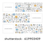 vector line concept for... | Shutterstock .eps vector #619903409