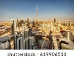 architecture of a big modern... | Shutterstock . vector #619906511