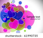 colorful heart background.... | Shutterstock . vector #61990735