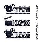 template cinema poster vector... | Shutterstock .eps vector #619909535