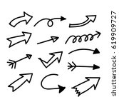 hand drawn arrow | Shutterstock .eps vector #619909727