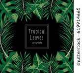 background vector of tropical... | Shutterstock .eps vector #619914665