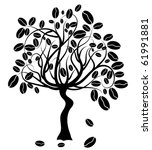 coffee tree  vector illustration | Shutterstock .eps vector #61991881