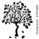 coffee tree  vector illustration   Shutterstock .eps vector #61991881