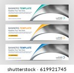 abstract web banner design... | Shutterstock .eps vector #619921745