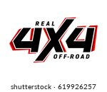 4x4 off road emblem. extreme... | Shutterstock .eps vector #619926257