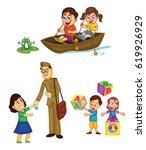 children activities | Shutterstock . vector #619926929